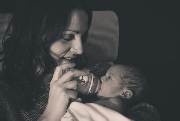 Fotografía de bebe, con cariño.- Valeria