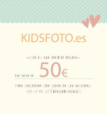 kidsfoto.es Tarjeta regalo valor 50€