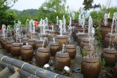 Kimchi Jars Fountain Semiwon Garden Korea