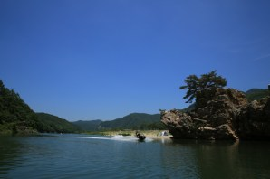 Jetboat river Canoeing with kids on Hongcheon River (홍천강)