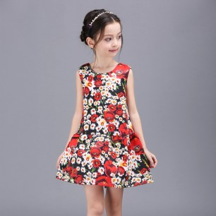Little-Girls-Dresses-2016-Spring-Floral-Print-Princess-Dress-Girl-Costume-font-b-Luxury-b-font