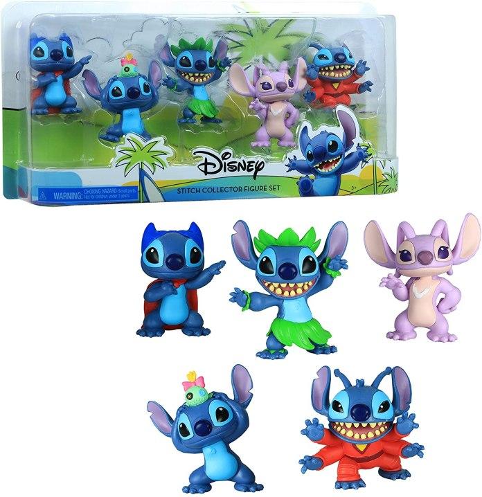 5/ Disney Lilo & Stitch Collectible Stitch Figure Set, 5-Pieces