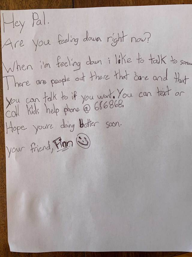 Letters of support from kids like you during COVID-18 - Kids Help