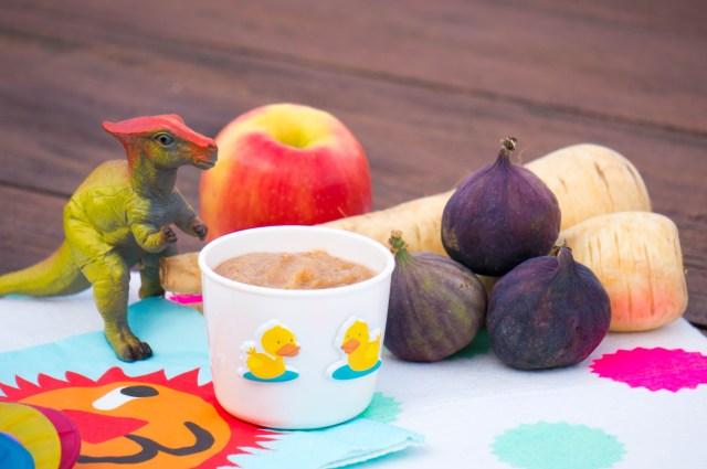 babyvoeding: pastinaak, vijg en appel