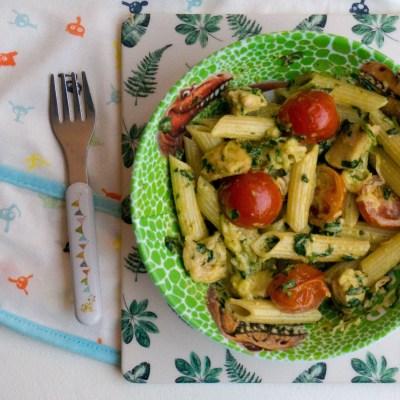 Pesto Pasta Kip - Babies Kitchen
