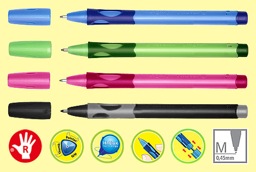 ручка для первоклассника stabilo