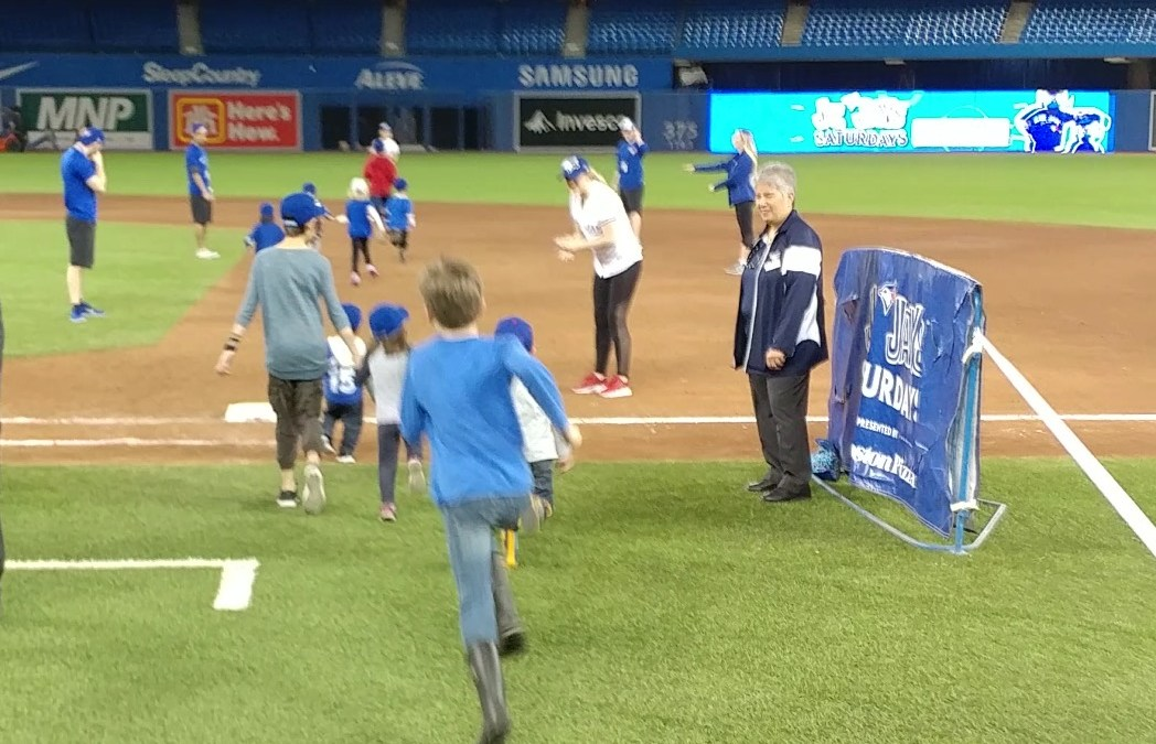Running the Bases at the Toronto Blue Jays Game