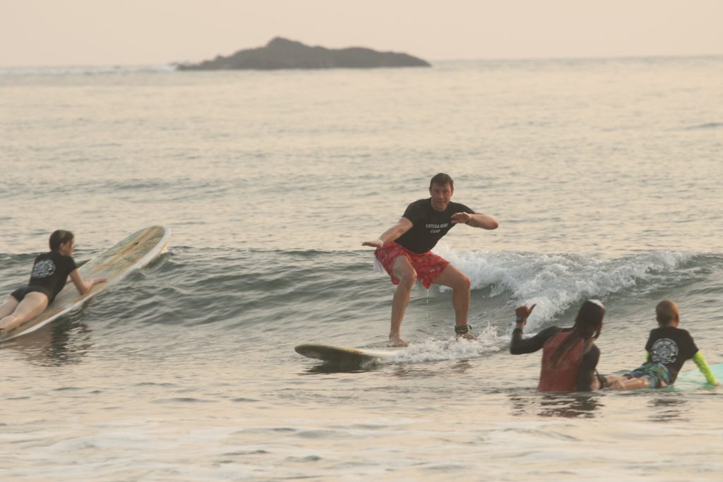 Family Surfing in Jaco Beach
