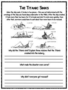 Titanic Facts Worksheets Amp History For Kids