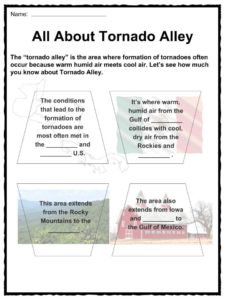 Tornado Facts Worksheets Information Amp Key History For Kids