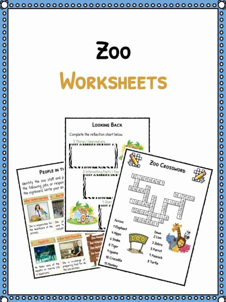 Zoo Facts Worksheets For Kids