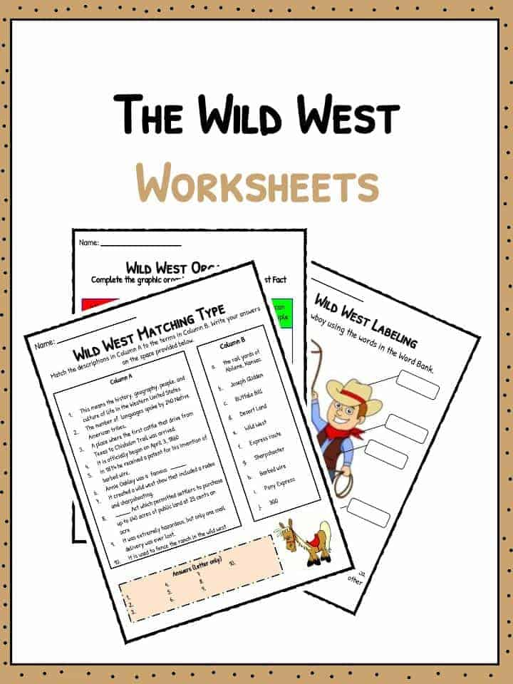 Old Wild West Facts, Information & Worksheets | School Study