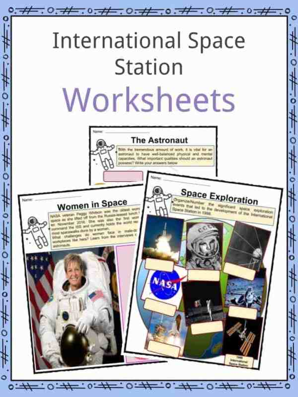 International Space Station Facts Worksheets