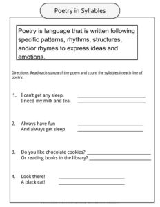 Poetry Worksheets Definition Amp Examples For Kids