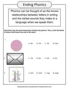 Phonics Table, Worksheets & Examples & Definition For Kids