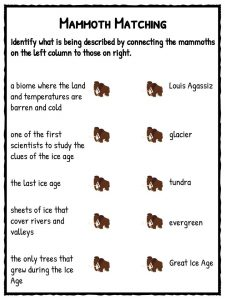 Ice Age Facts Amp Worksheets For Kids