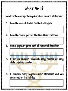 Hanukkah Worksheets Facts Amp Information For Kids