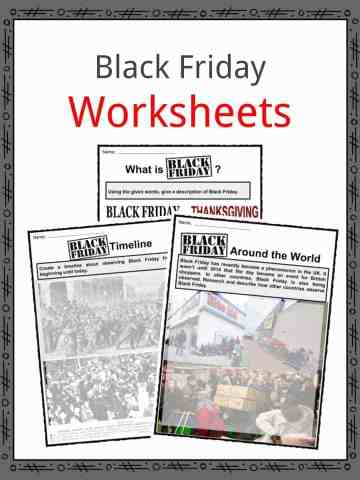 Black Friday Worksheets