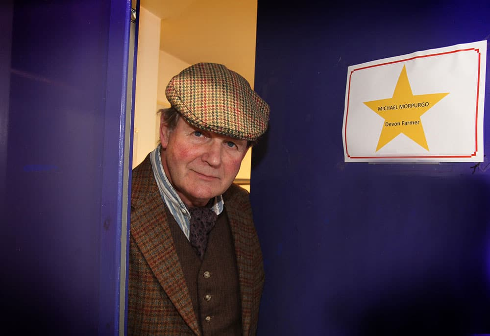 Michael Morpurgo makes a cameo appearance in War Horse at The Lowry (18 September 2014). Flickr: thelowry