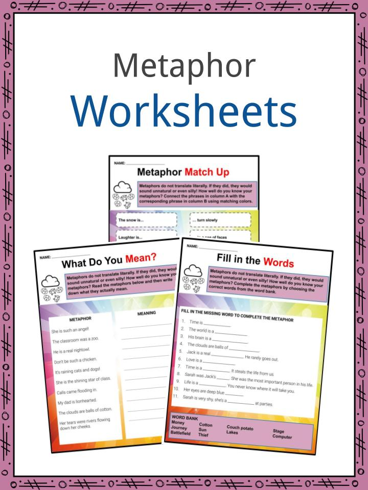 Metaphor Examples Definition And Worksheets What Is A