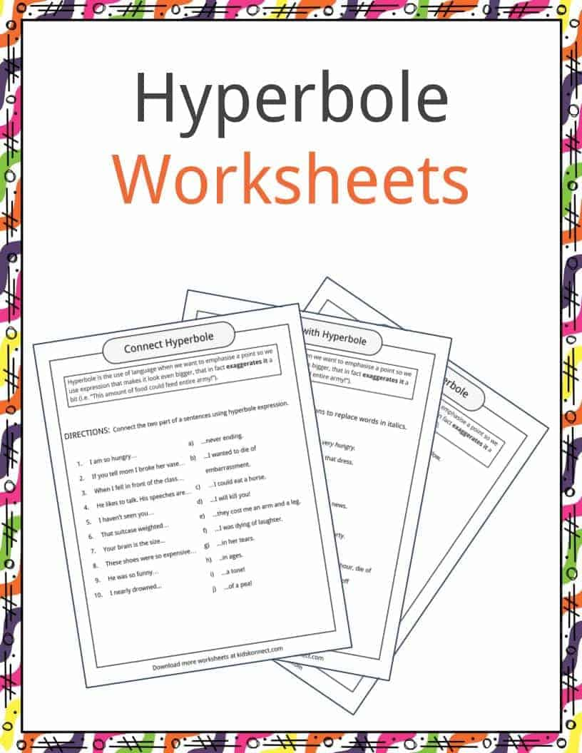 Hyperbole Examples, Definition & Worksheets | KidsKonnect