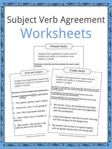 Subject Amp Object Study Worksheet Common Core