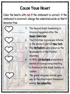 The Second Great Awakening Facts & Worksheets For Kids