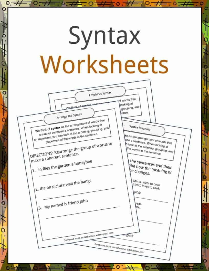Syntax Examples Definition And Worksheets