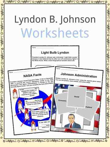 Lyndon B. Johnson Worksheets