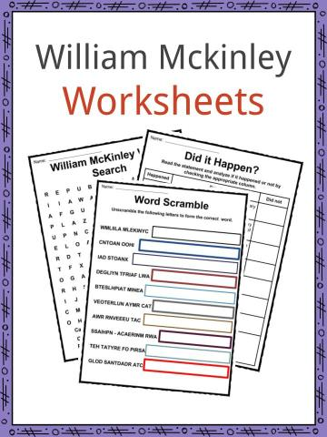 William McKinley Worksheets