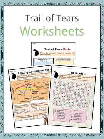 Trail of Tears Worksheets