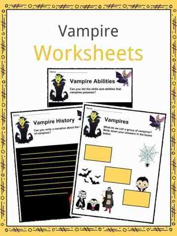 Vampire Worksheets