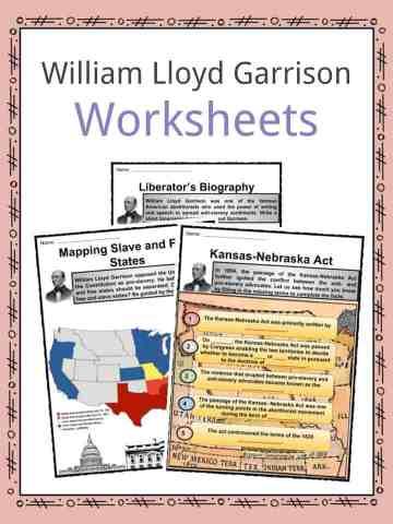 William Lloyd Garrison Worksheets