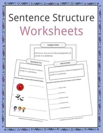 Sentence Structure Worksheets