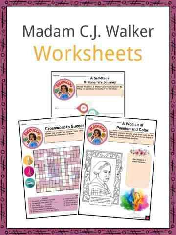 Madam C.J. Walker Worksheets