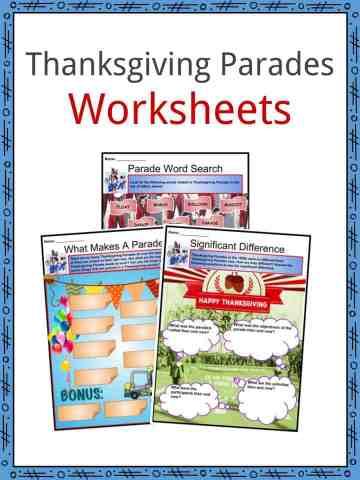 Thanksgiving Parades Worksheets