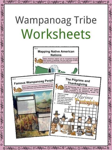 Wampanoag Indians Worksheets