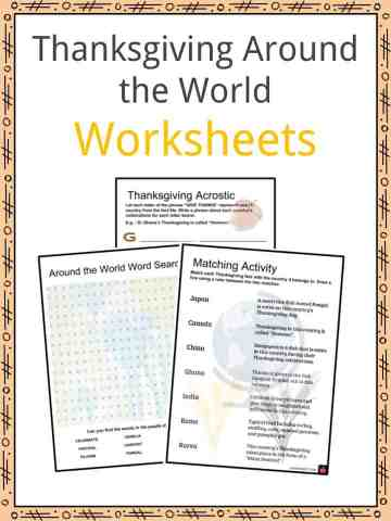 Thanksgiving Around the World Worksheets