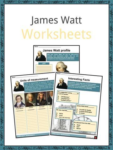 James Watt Worksheets