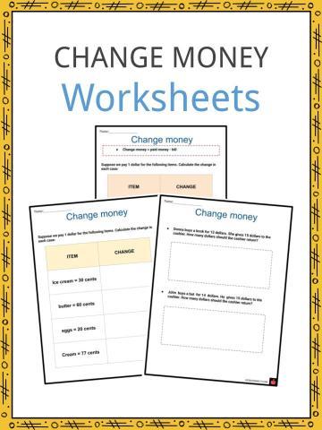Change money Worksheets
