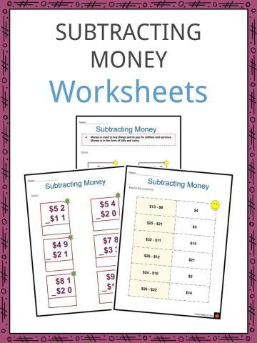 Subtracting money Worksheets