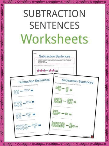 Subtraction sentences Worksheets