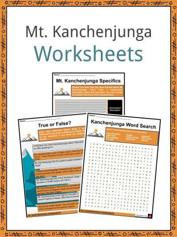 Mt. Kanchenjunga Worksheets