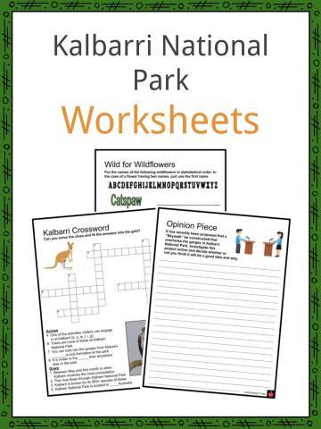 Kalbarri National Park Worksheets