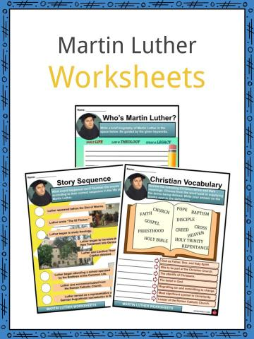 Martin Luther Worksheets