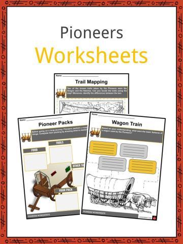 Pioneers Worksheets