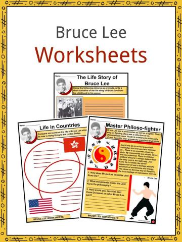 Bruce Lee Worksheets