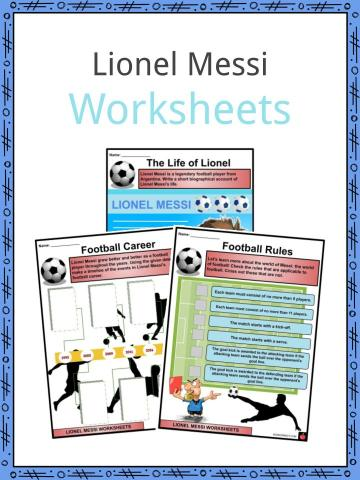 Lionel Messi Worksheets