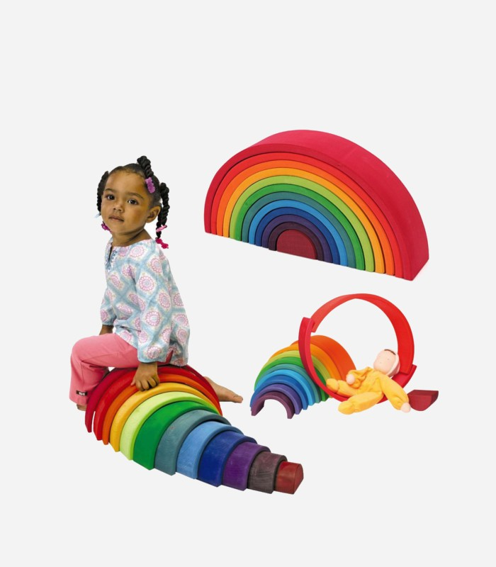 Best Wooden Toys For 1 Year Old Grimms Extra Large Rainbow Stacker Kids Love This Stuff