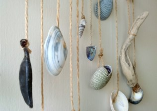Image of beach-treasures-hanging-from-string